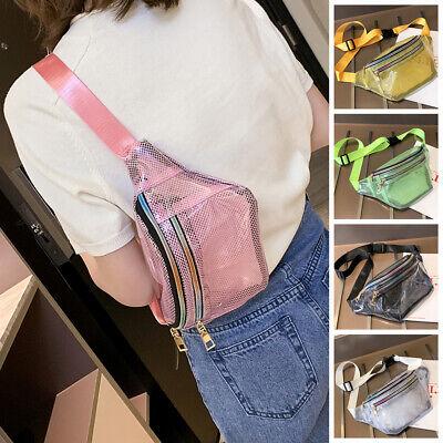 Clear Hobo (Women Travel Waist Fanny Pack Clear Grid PVC Belt Wallet Bum Bag Chest Pouch US )