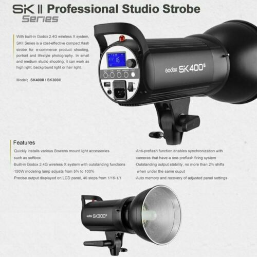 Godox SK400II Photography Studio Flash Strobe Lamp Light Head 110V 400W 2.4G - $109.00