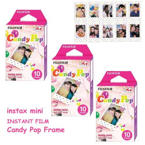 For Fuji Instax 8 9 Instant Camera Fujifilm Mini 30 Sheets Candy Pop Film Photos