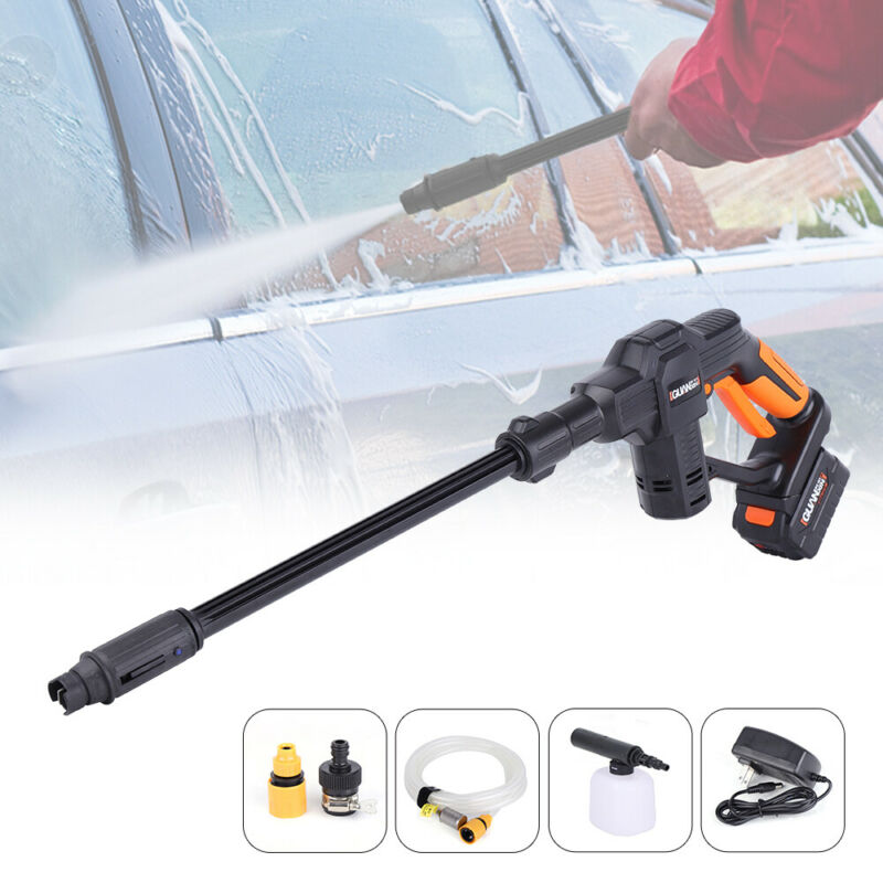 Cordless Hydroshot Portable Power Cleaner with Accessories Kit+Battery & Charger