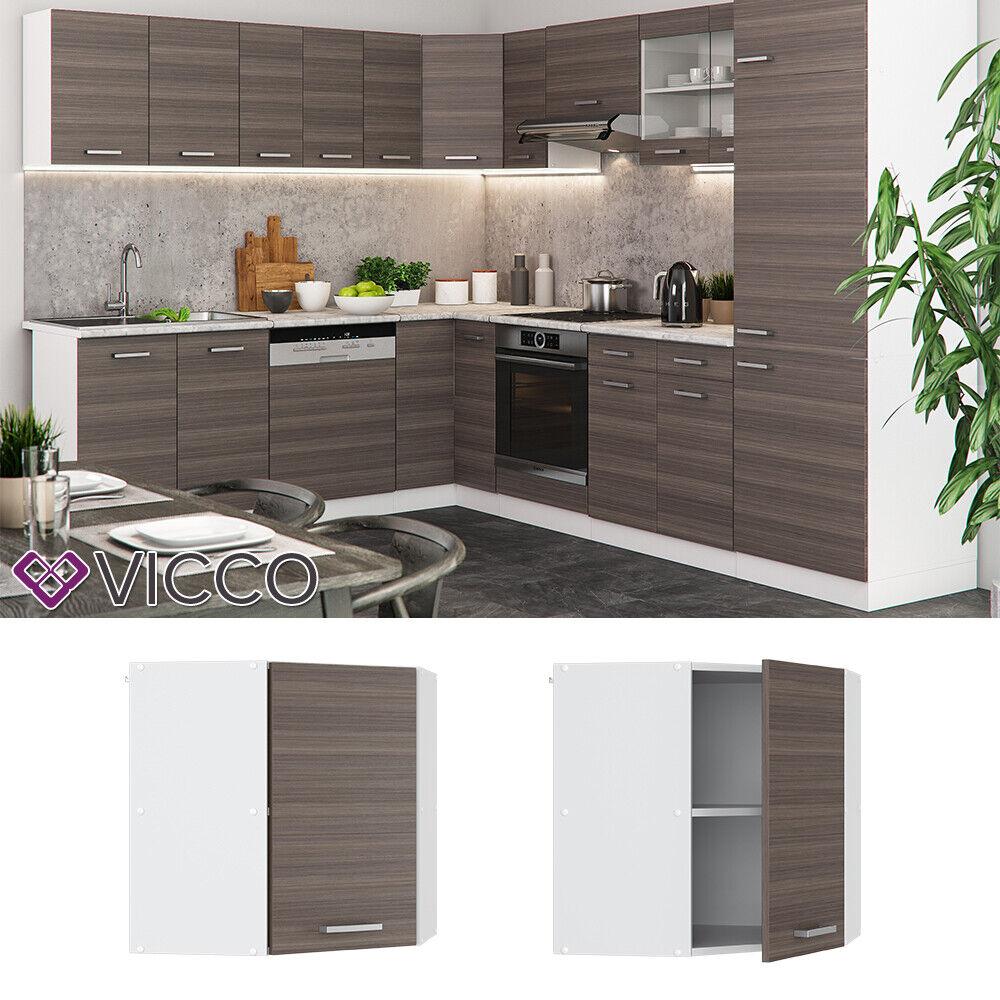 VICCO Küchenschrank Hängeschrank Unterschrank Küchenzeile R-Line Eckhängeschrank 57 cm edelgrau
