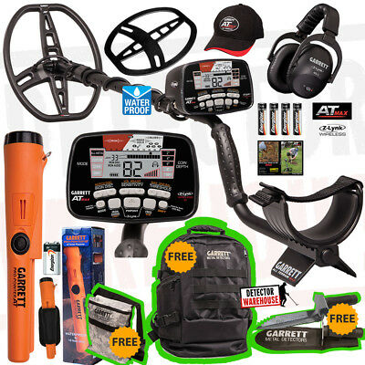 Garrett AT Max Metal Detector Wireless Headphones, Propointer-AT + Diggers Pkg!