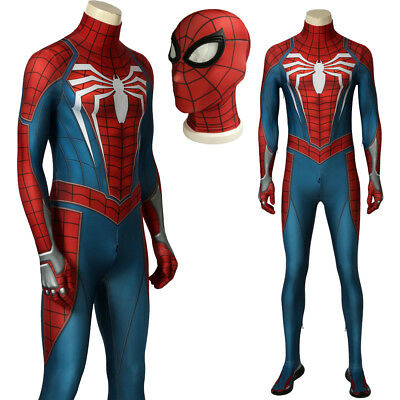 Game SPIDERMAN PS4 Spiderman Costume Superhero Cosplay Adult Halloween Costume  - Mens Superhero Costumes