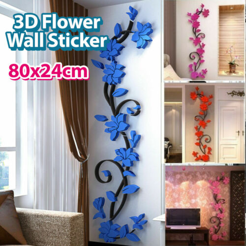 Home Decoration - DIY 3D Flower Wall Sticker Removable Vinyl Quote Decal Mural Home Room Decor Art