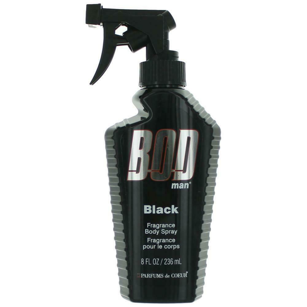 Bod Man Black By Parfums De Coeur Body Spray 8 Oz For Men