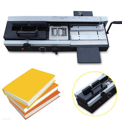 110v A4 Desktop Plastic Hot Melt Binding Machine Manual Handwheel Pressure 1200w