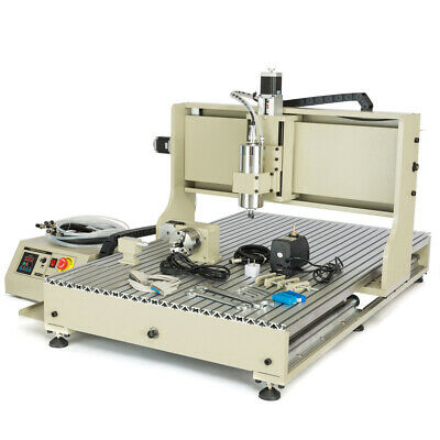2.2kw Usb Style 4axis Cnc 6090 Router Engraver Metal Carving Drill Mill Machine
