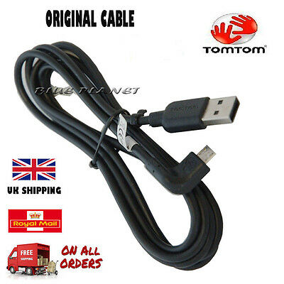 GENUINE TOMTOM GO400 / GO500 / GO510 / GO600 / GO610 USB CAR CHARGER DATA CABLE