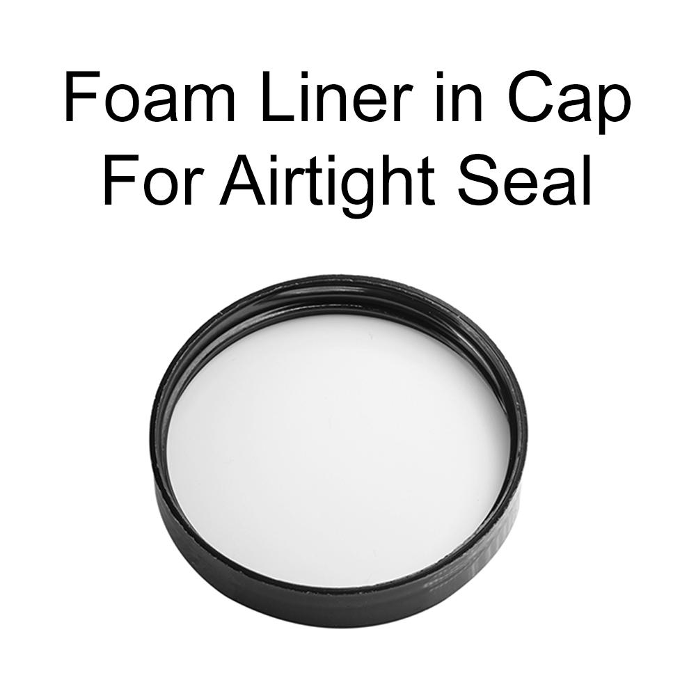 Amber Jars 4oz W/Lids, 12 Pack, Round PET Plastic Jar Container Blank Labels - $16.00