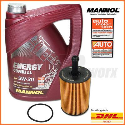 Golf 5 6 Passat B6 Touran 1.9 2.0 TDI | 5L MANNOL Energy Combi 5W-30 + Ölfilter (Passat B6 Wechseln)