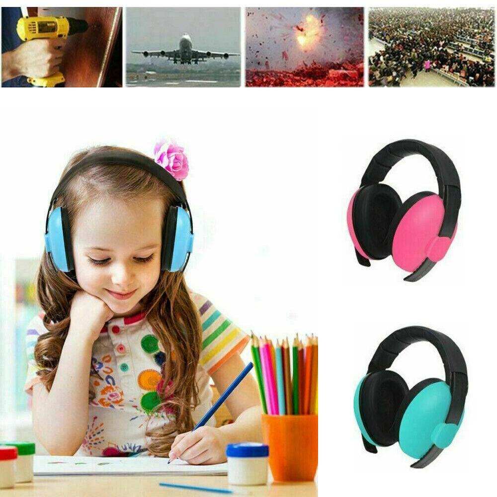 Kids Folding Ear Defenders Noise Reduction Protectors Muff Children Baby UK