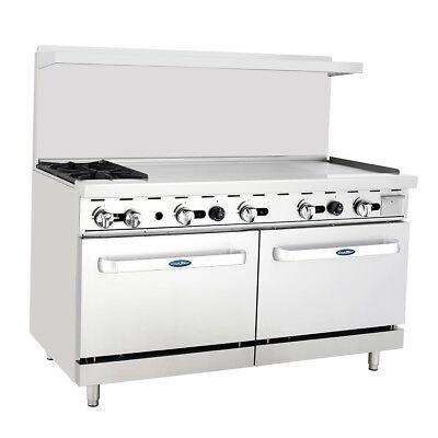 Atosa Ato-2b48g Cookrite 60 2 Burner Gas Range W Oven