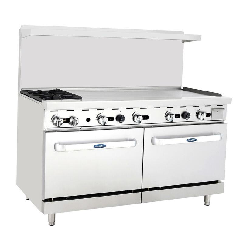 "Atosa Ato-2b48g Cookrite 60"" (2) Burner Gas Range W/ Oven"