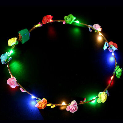 Tourist Party Attraction Wreath Headwear LED Light Hair Accessories - Tourist Party