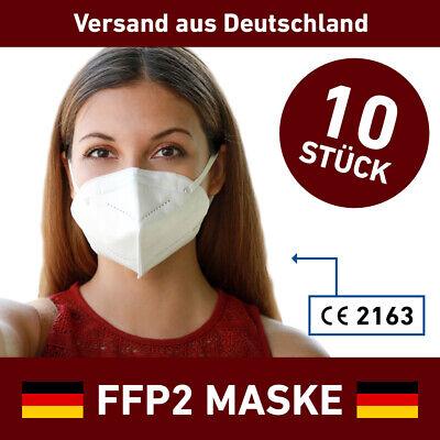 10 x FFP2 Atemschutzmaske Mundschutz 5 lagig CE ZERTIFIZIERT Maske Mund LUYAO