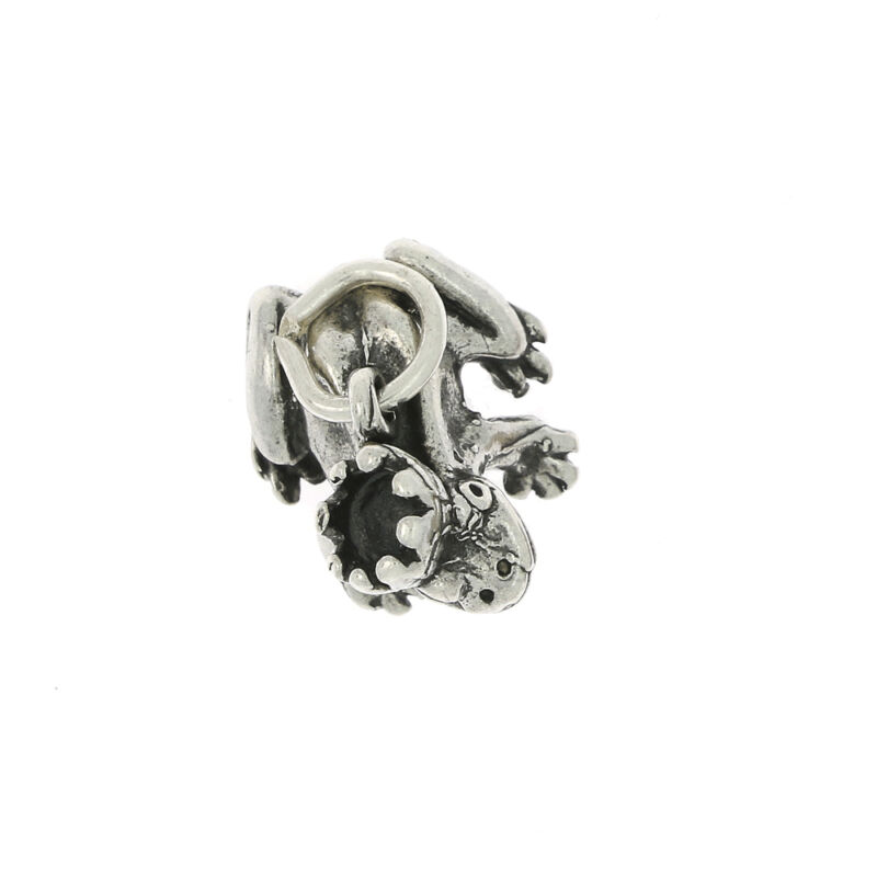 STERLING SILVER PRINCE CHARMING FROG CHARM OR PENDANT