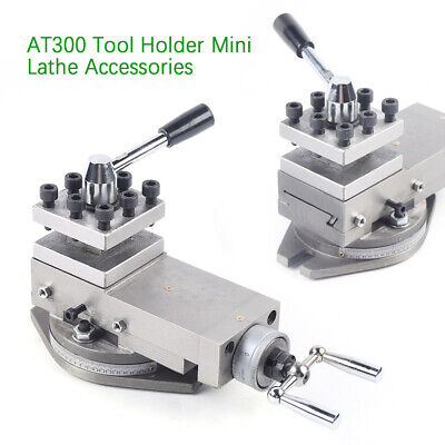 Upgrade1at300 Lathe Tool Post Assembly Holder Metal Mini Lathe Part Equipment