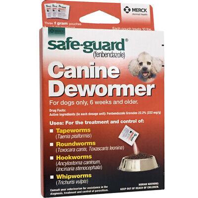Safe Guard Fenbendazole Canine Dewormer Dogs 1 Gram (3