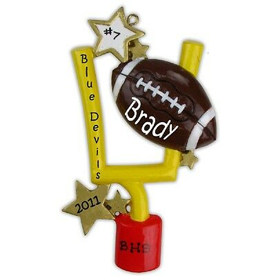 Football Personalized Christmas Tree Ornament X-mass NEW ](Personalized Football Ornaments)