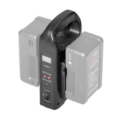 Dual Channel V-Lock Battery Charger Lighting Light Power Studio Photography, used for sale  Oldbury