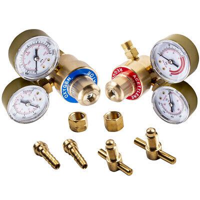 Pair Oxygen Acetylene Brass Regulators 4 Welding Victor Gas Torch Cutting Kit