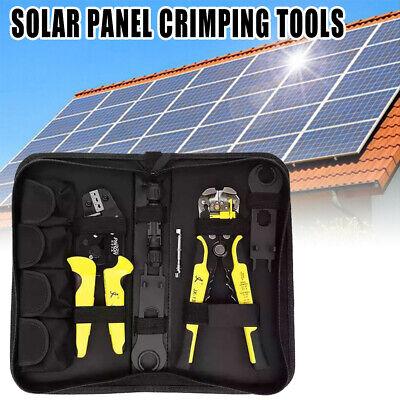 Professional Mc4 Solar Panel Crimping Tools Wire Terminal Crimper Kit Set