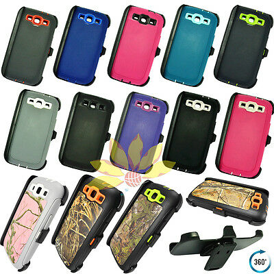 For Samsung Galaxy S3 Case Cover w/Screen(Clip fits Otterbox Defender series) - Samsung S3 Case