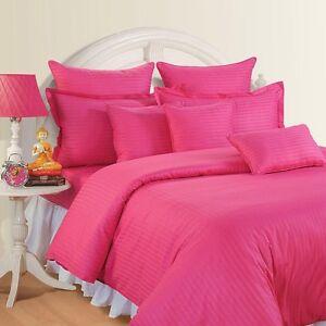 Sale 1000tc Designer Duvet Cover Set Hot Pink Striped