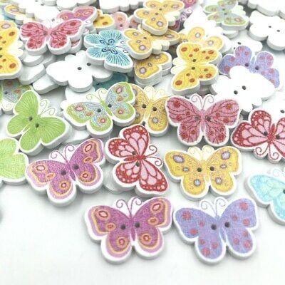 Wooden Buttons Butterfly shape sewing 2 holes Scrapbooking Handicrafts 25mm](Wooden Butterfly)