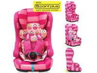 new, never used: Cosatto Hubbub (Twee Twoo) Isofix Car Seat (9month-4 years)-some slight marks