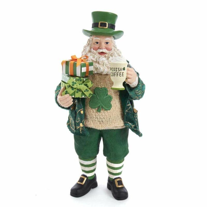 Fabriché Musical Irish Santa Christmas Figurine FA0141 New