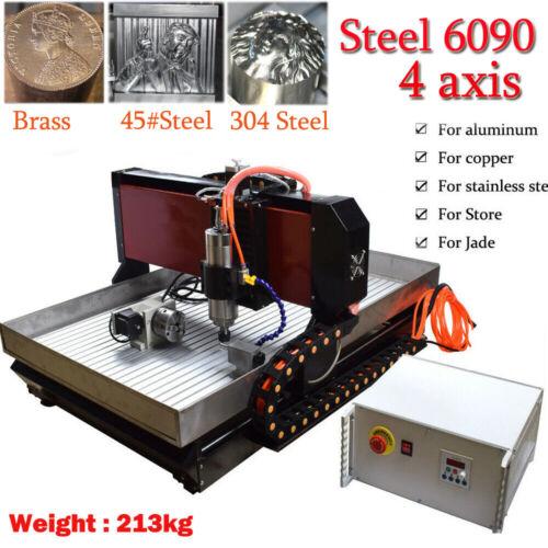 CNC 6090 4axis 2.2KW Engraving Machine Steel Metal Milling R