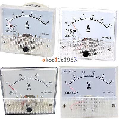 Analog Panel Amp Meter Voltmeter Gauge 85c1 Gbt7676-98 Dc 0-30v50v 0-5a10a
