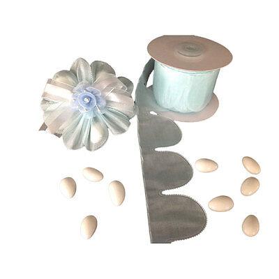 Blue flower PULL JORDAN ALMONDS CANDY BOW Ribbon decoration wedding favors -