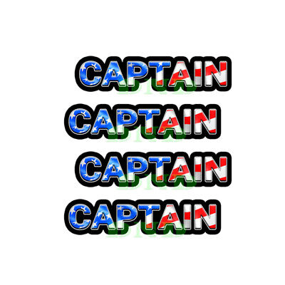 Captain Us Flag Lunch Box Hard Hat Tool Box Helmet Sticker 4 Pack 3 Inch
