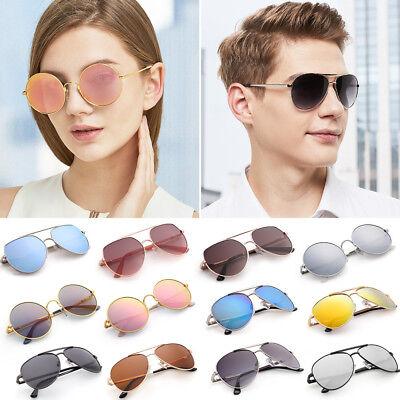 Polarized Aviator Sunglasses for Women Men Case Vintage Sports Driving Mirrored