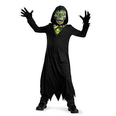 GRIM REAPER GLOW IN THE DARK BOYS SKELETON HALLOWEEN COSTUME CHILD MEDIUM (7-8) - Glow In The Dark Baby Halloween Costumes