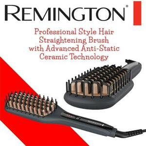 NEW Remington Professional Style Hair Straightening Brush, with Advanced Anti-Static Ceramic Technology for Less Friz...