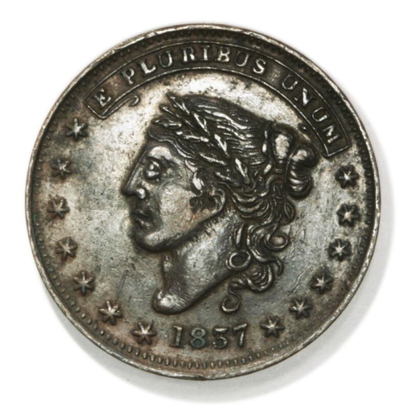 George A Jarvis (HT# 284, Low# 123) One Cent Hard Times Token. New York, NY.