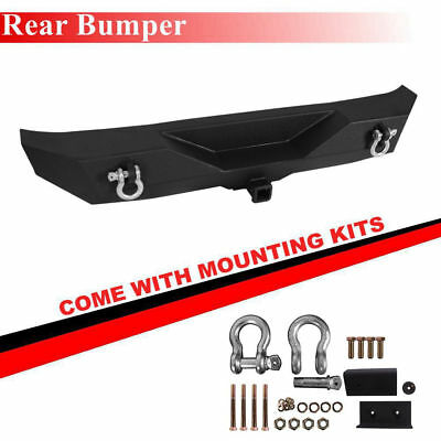 Black Textured Rear Bumper Fit 1987-2006 Jeep Wrangler TJ / YJ New