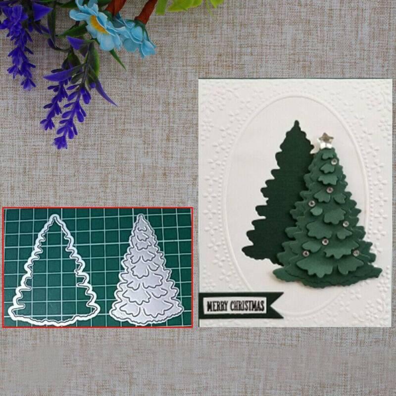 Christmas Tree Car Metal Cutting Dies Stencil Scrapbook Card Paper DIY B6E6 H2G6