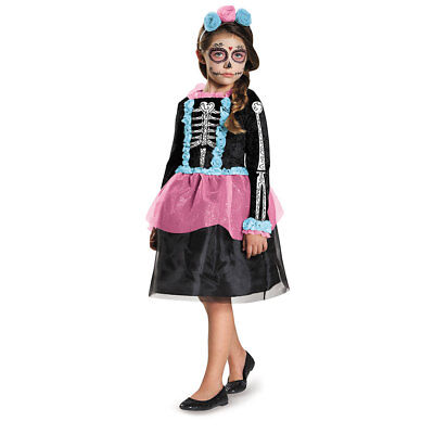 Girls Sweet Skeleton Halloween Costume