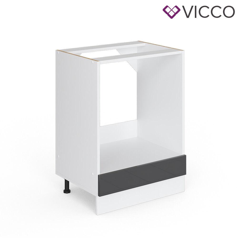 VICCO Küchenschrank Hängeschrank Unterschrank Küchenzeile R-Line Herdumbauschrank 60 cm anthrazit