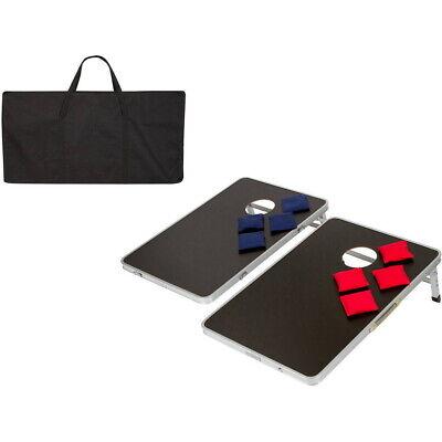 Bean Bag Games (Portable CornHole Bean Bag Toss Game Set Aluminum Frame with Carrying)