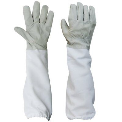 New 1 Pair Of Beekeeping Protective Gloves With Vented Long Sleeves Us