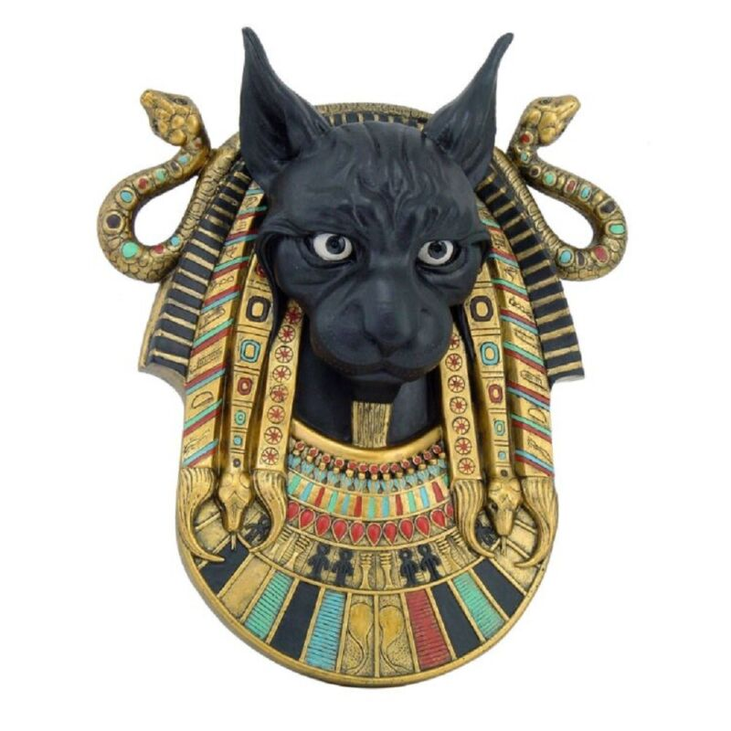 Egyptian Bastet Goddess Wall Plaque Home Decoration New 12.75 inch