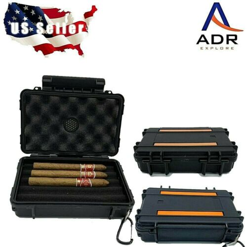 Travel humidor Waterproof Crushproof shockproof 5 cigar capacity lanyard.