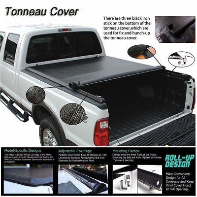 "Fits 2005-2015 TOYOTA TACOMA SOFT ROLL UP Lock Tonneau Cover 5ft (60"") Short Bed"