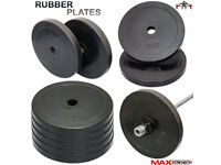 15kg Olympic Rubber Bumper Plates (Pair)