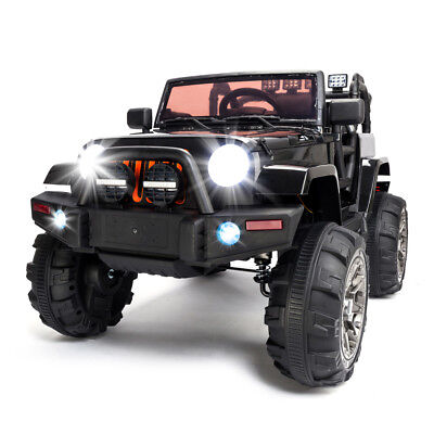 12V Kids Ride on Cars Electric Battery Power Wheels Remote Control 3 Speed Black